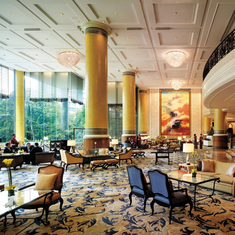 Lobby Lounge Luxury Scenic views restaurant function hall living room Resort ballroom palace convention center