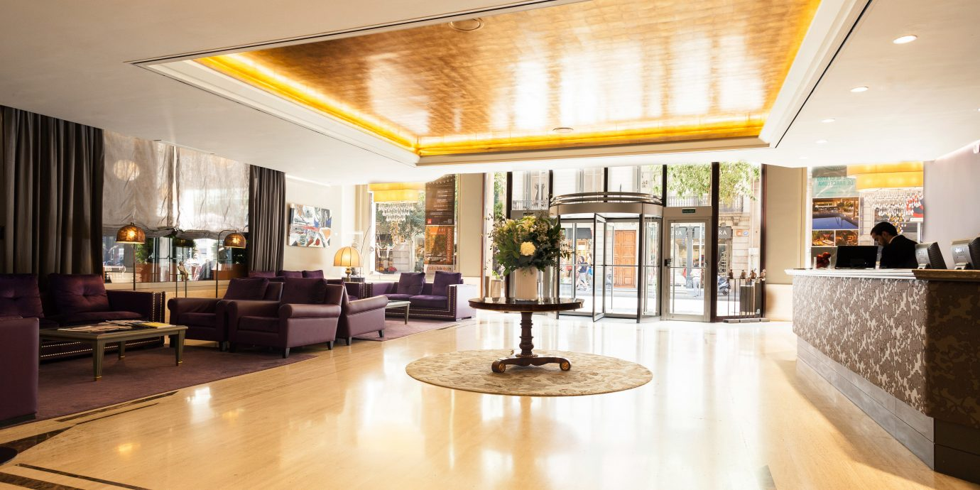 Lobby Lounge Modern building property hardwood home condominium living room wood flooring flooring