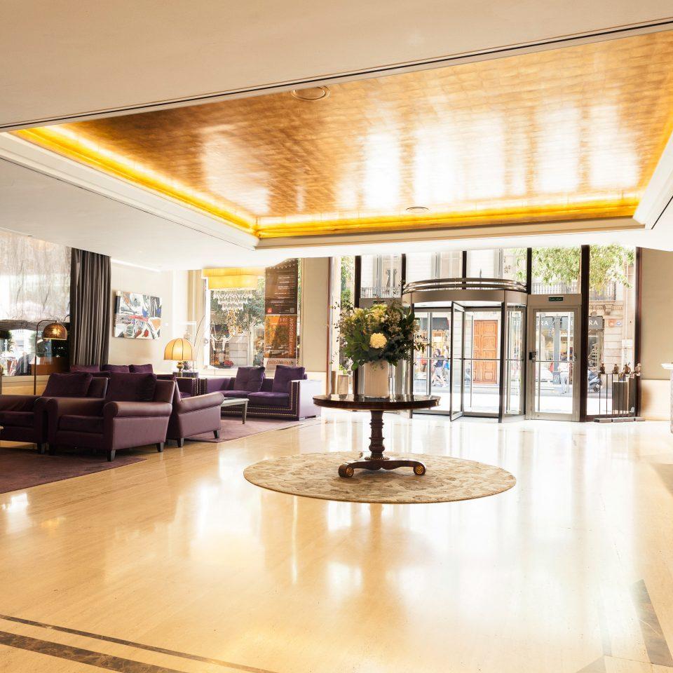 Lobby Lounge Modern building property hardwood home condominium living room wood flooring flooring