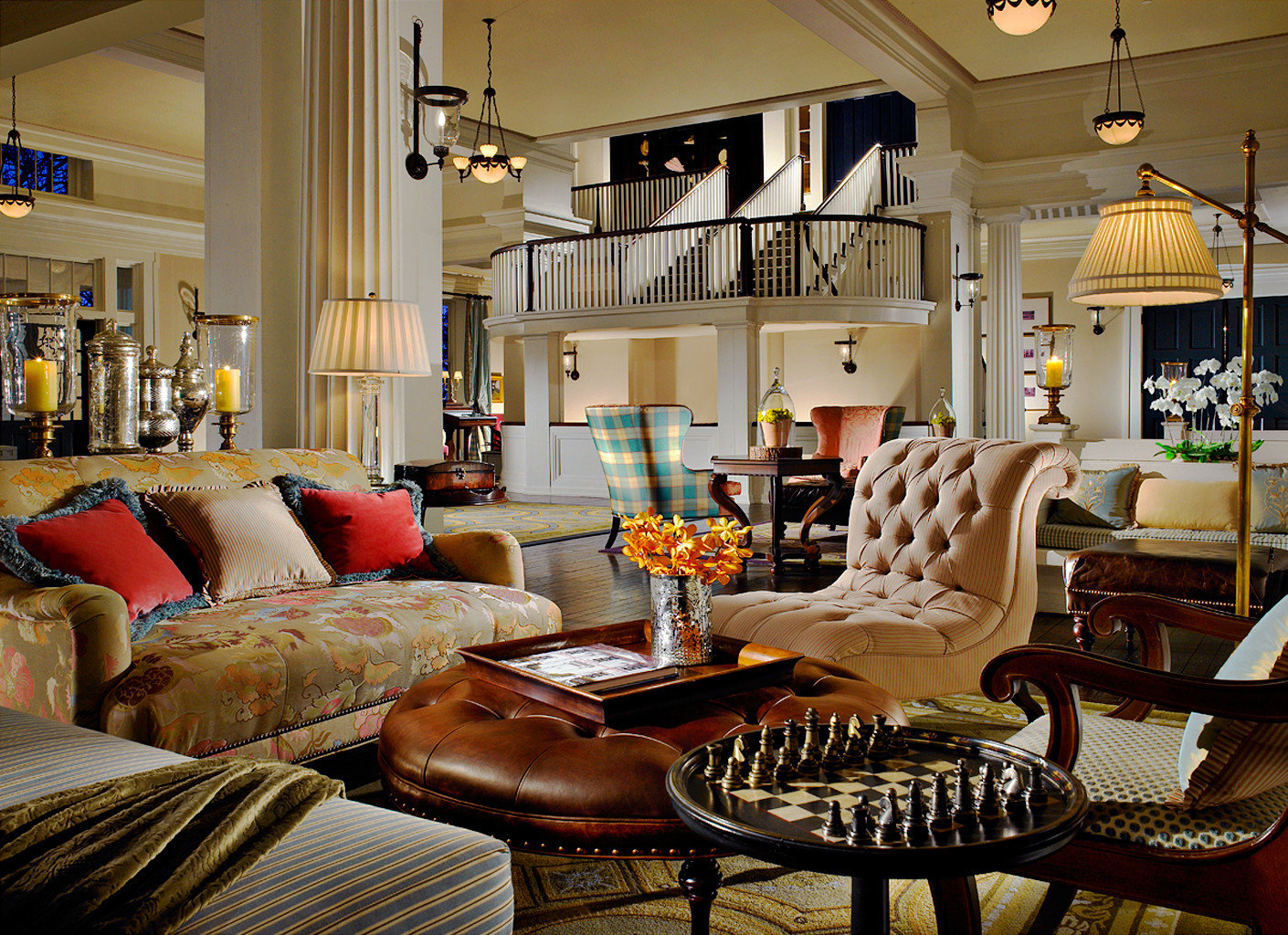 Lobby Lounge Modern Resort sofa living room property home leather