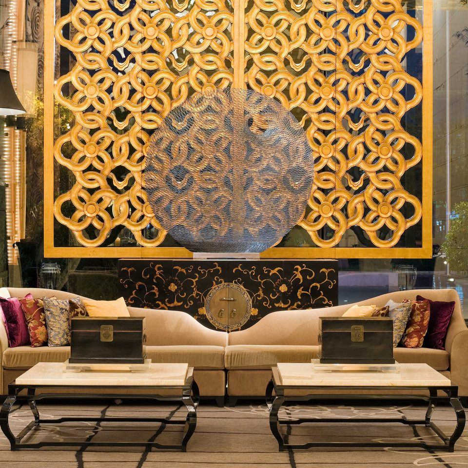 Lounge Modern Resort color art living room modern art Lobby wallpaper