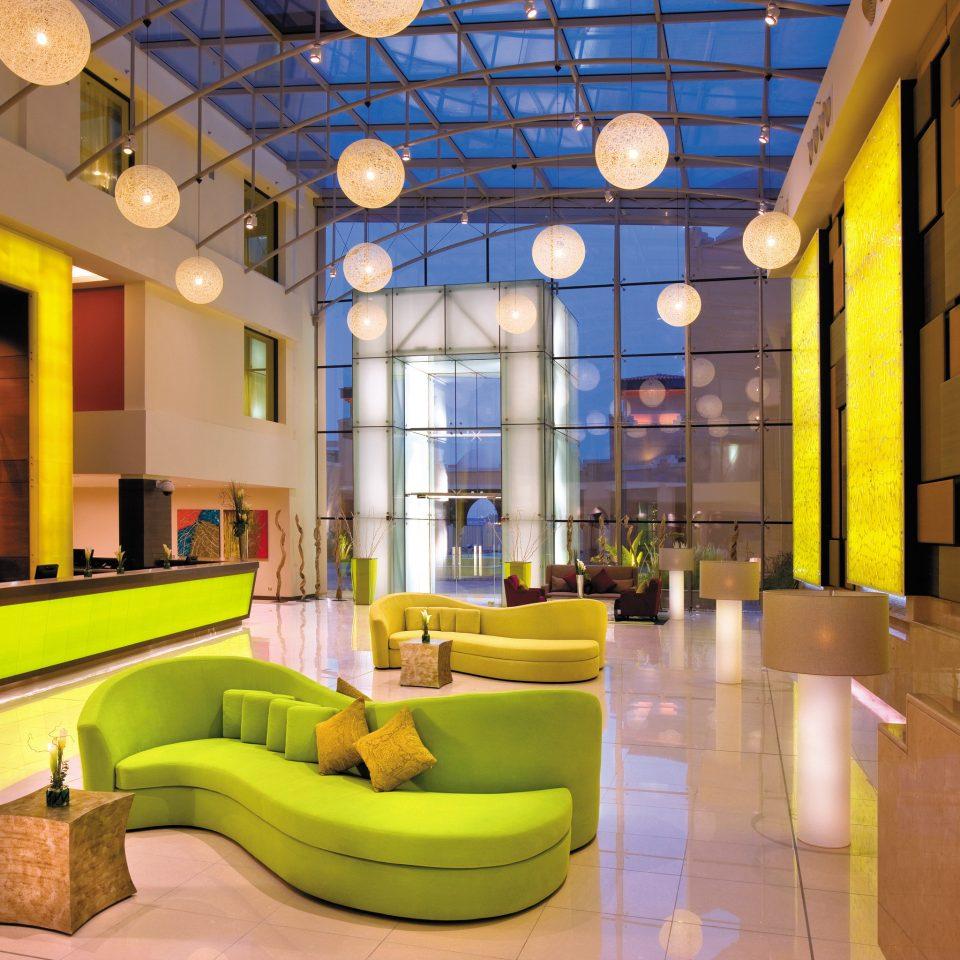 Lobby Lounge Modern color living room yellow home recreation room Resort