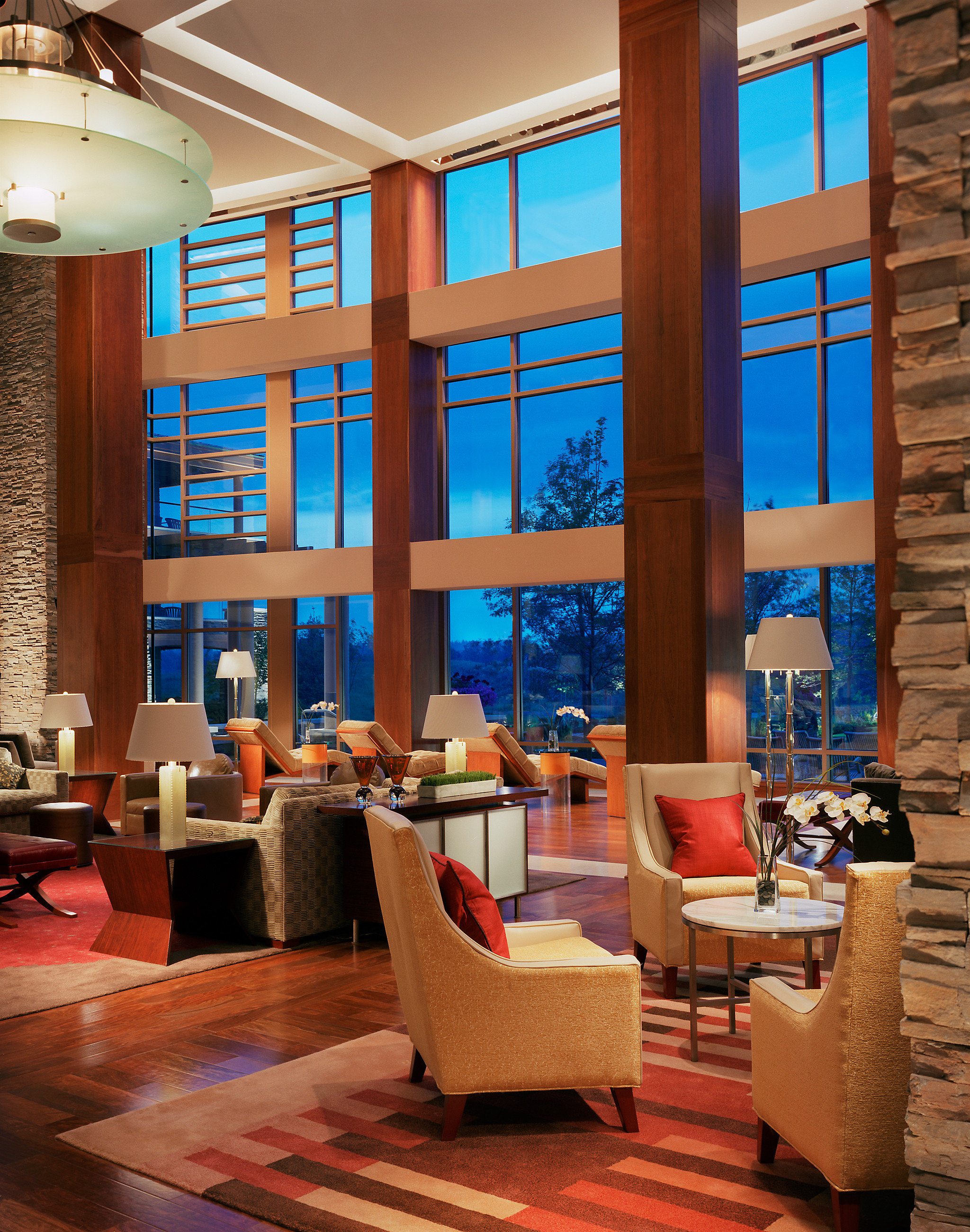 Lobby Lounge Modern Resort Scenic views color living room home