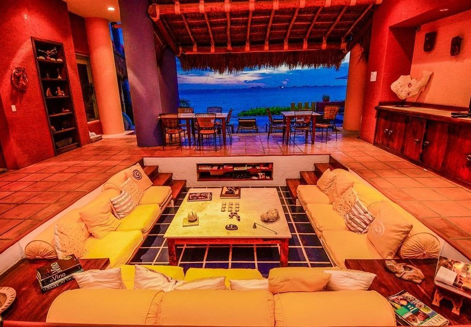 Lobby Lounge Modern Scenic views Tropical Waterfront recreation room stage screenshot nightclub theatre