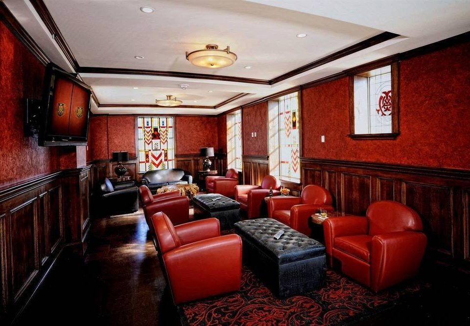 Lounge Modern red recreation room billiard room Lobby Suite conference hall living room leather