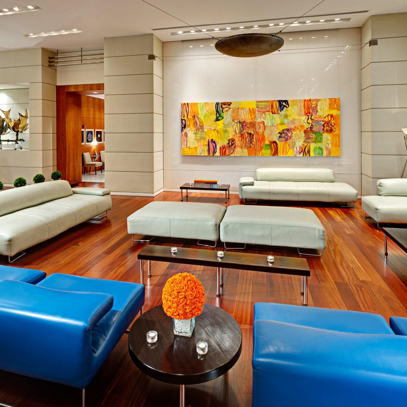 Lobby Lounge living room property blue recreation room Suite home condominium