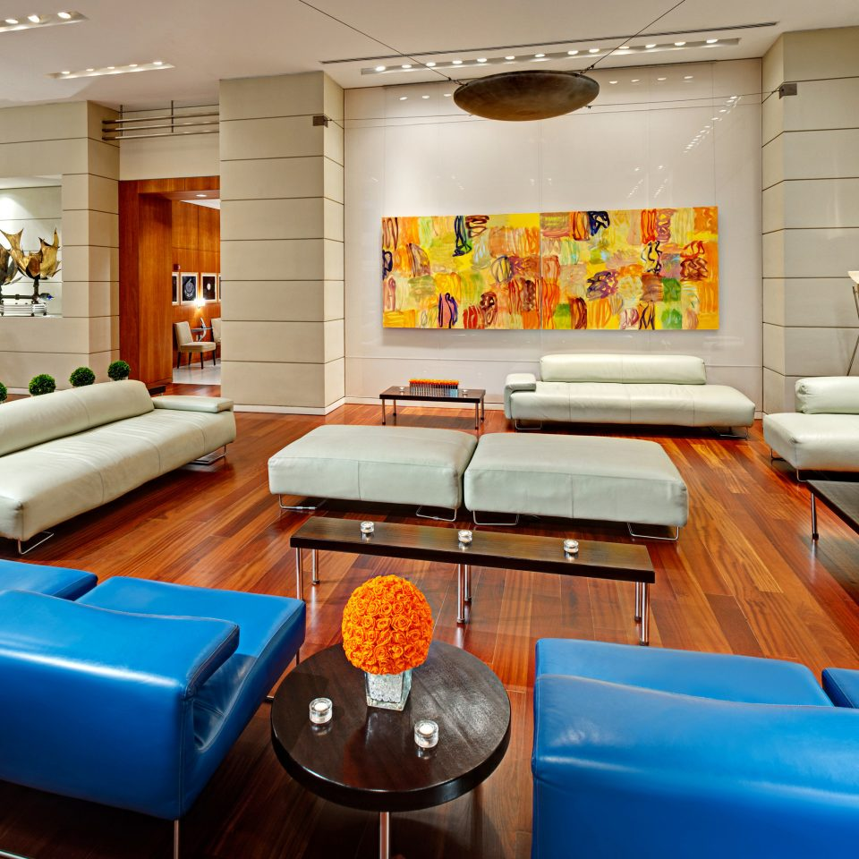 Lobby Lounge living room property blue recreation room Suite home condominium