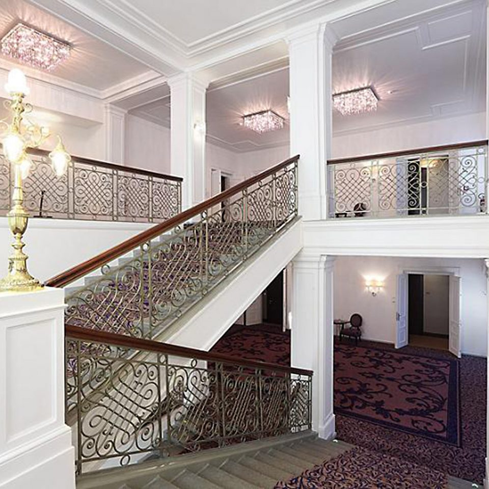 Lobby Luxury Modern property stairs home hardwood living room handrail mansion baluster flooring hall