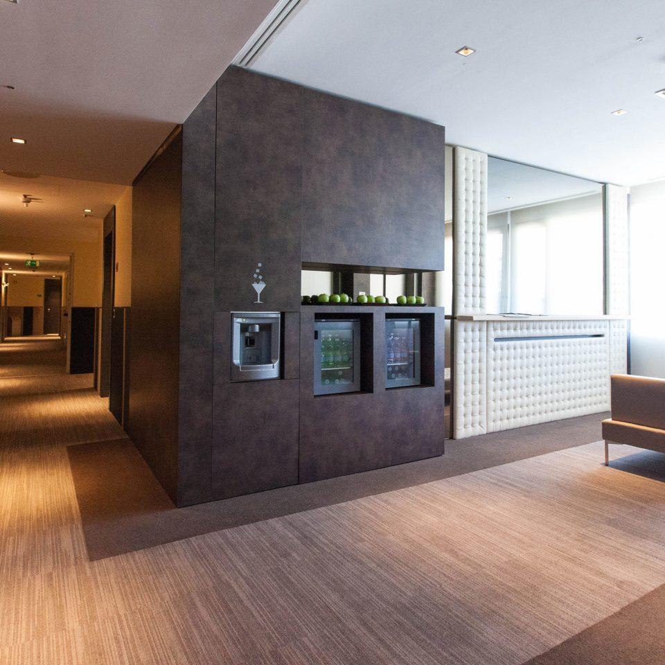 property building Lobby living room home flooring condominium wood flooring Modern