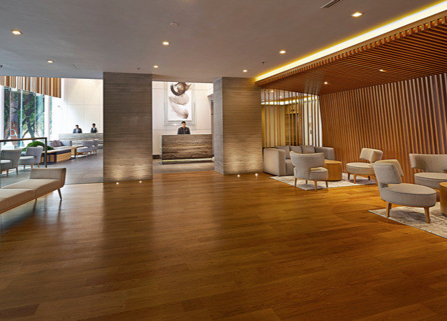 building property Lobby flooring hard hardwood wood flooring wooden laminate flooring living room Modern