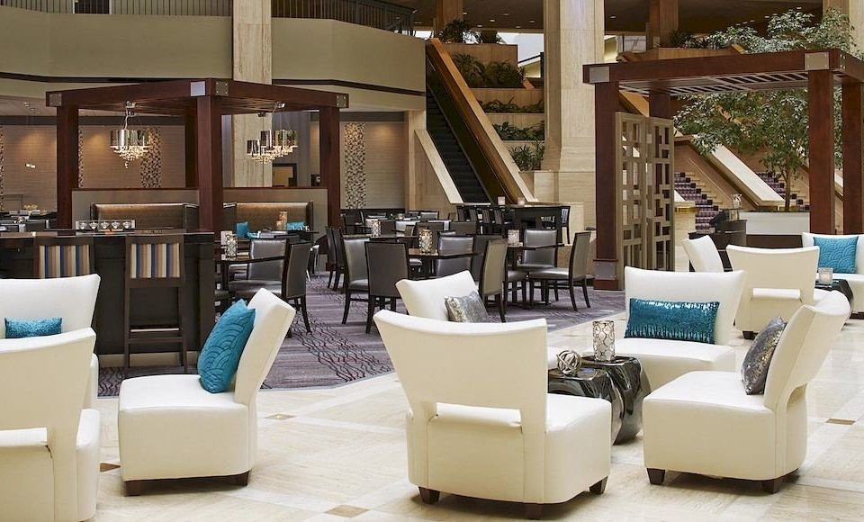 white chair Lobby lighting living room restaurant Modern