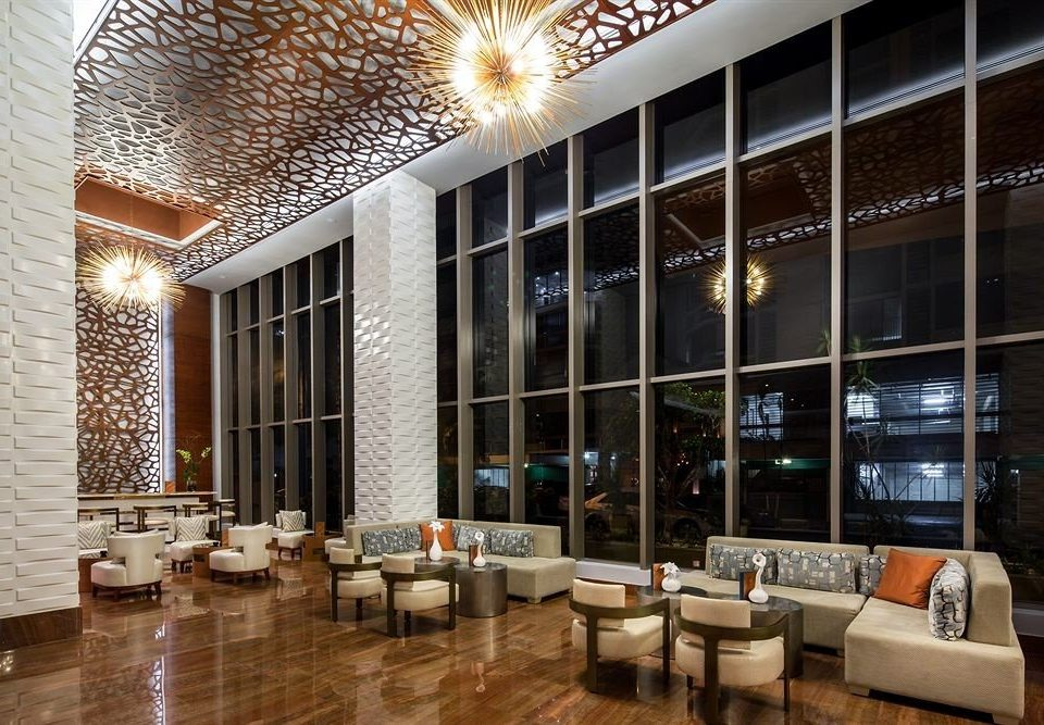 Lobby property condominium lighting living room restaurant convention center Modern