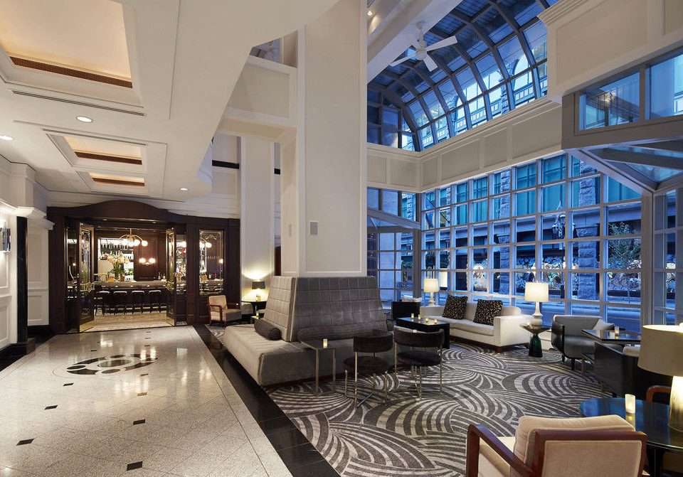 Lobby property condominium headquarters convention center living room Modern