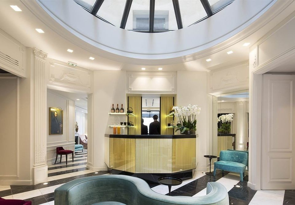 Lobby property living room home daylighting mansion condominium Modern