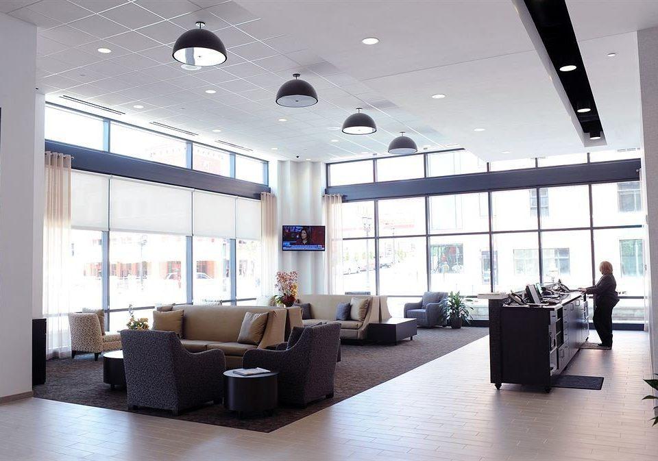 property office Lobby living room condominium headquarters lighting Modern