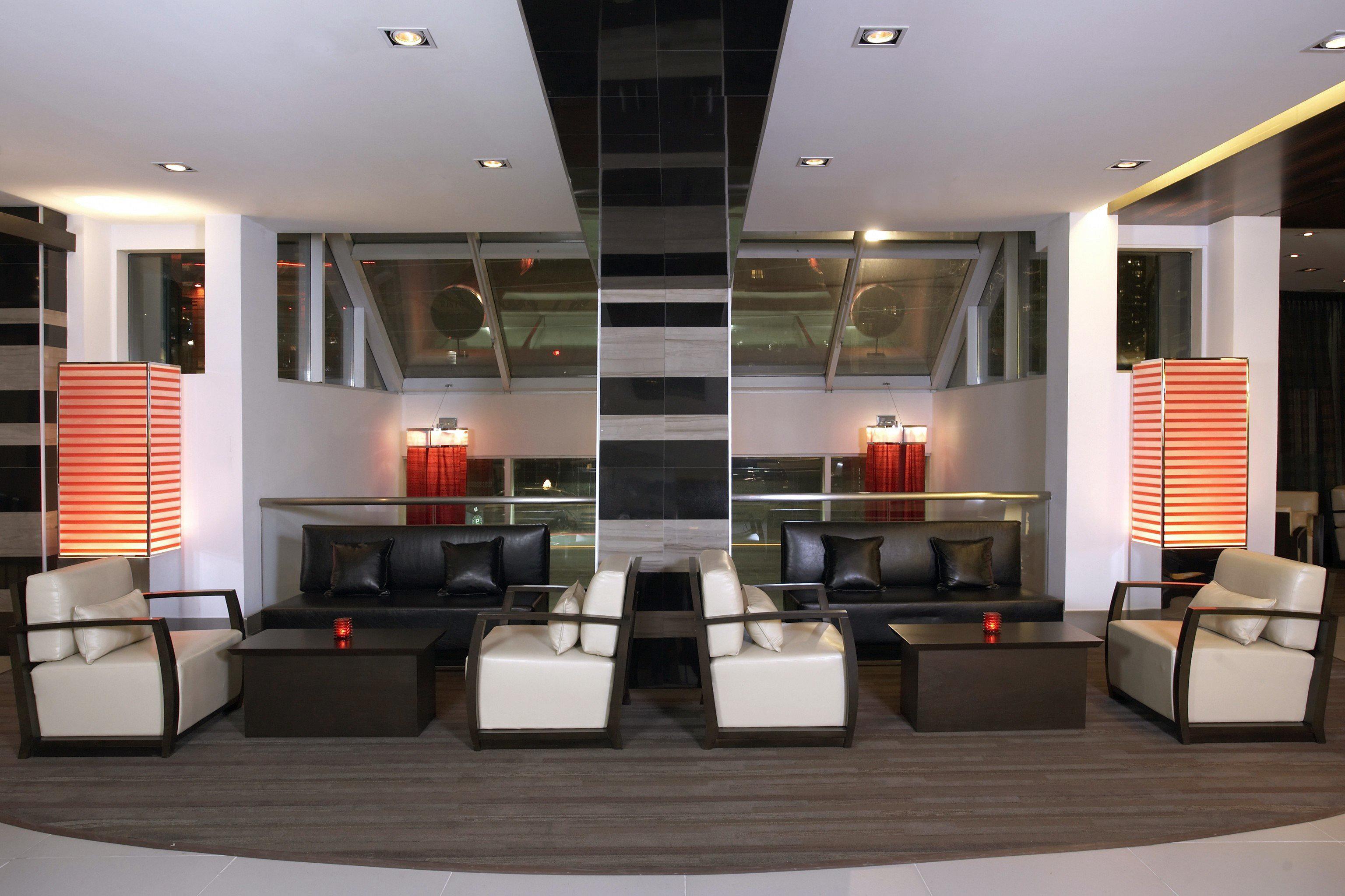 property living room white Lobby condominium home restaurant Modern