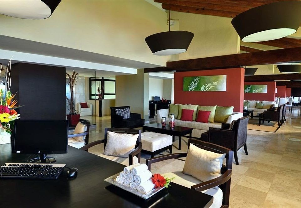 property Lobby living room restaurant condominium Modern leather