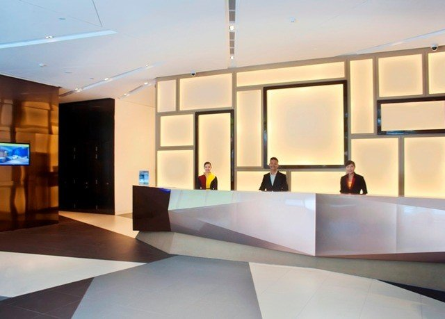 property lighting conference hall Lobby receptionist headquarters Modern