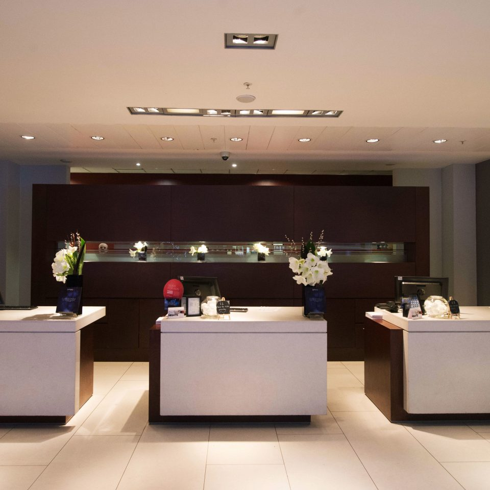 Lobby receptionist lighting Modern
