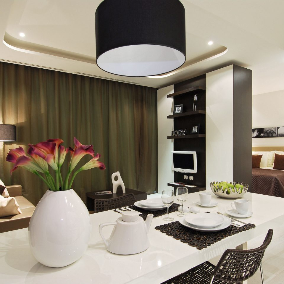living room property condominium home Suite lighting Lobby Modern dining table