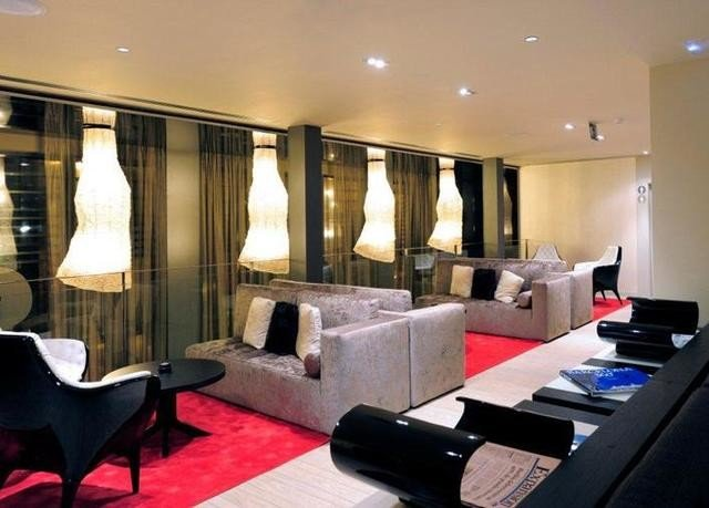 property Lobby Suite living room condominium conference hall Modern
