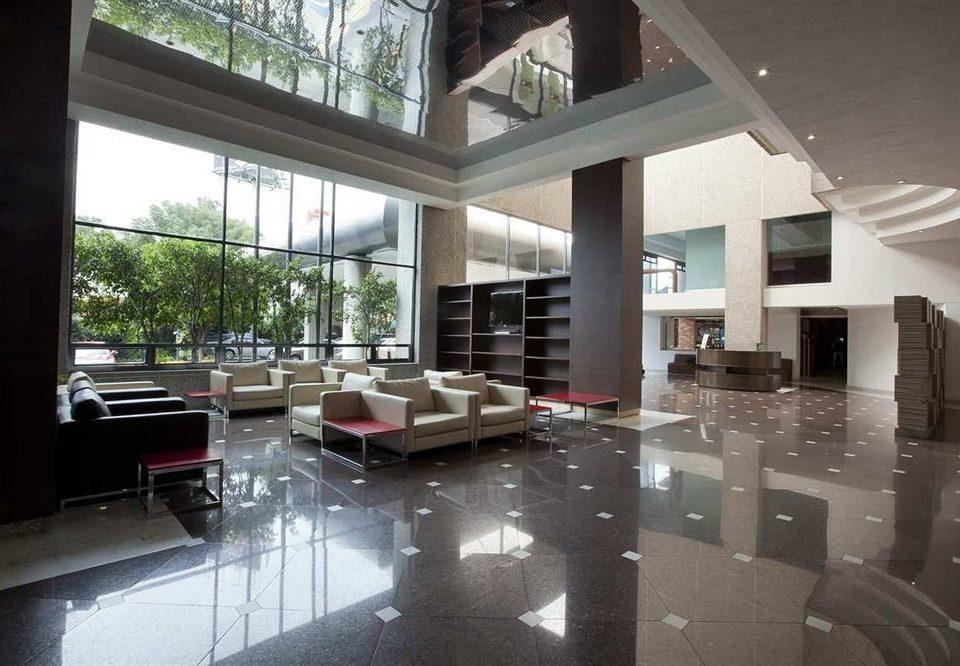property condominium Lobby living room home daylighting loft mansion flooring professional Villa Modern