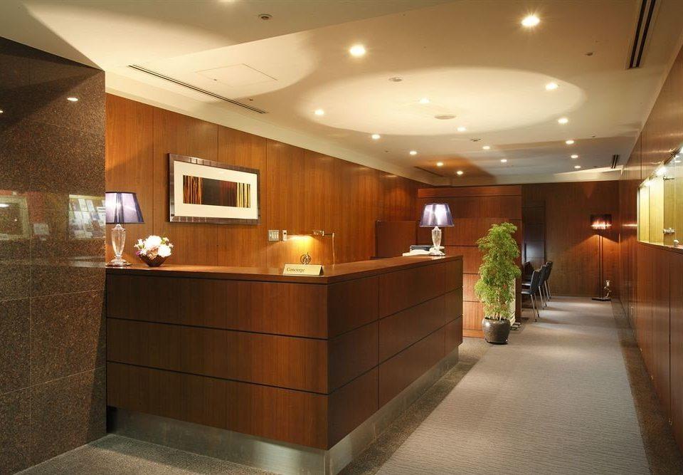 Lobby receptionist tile