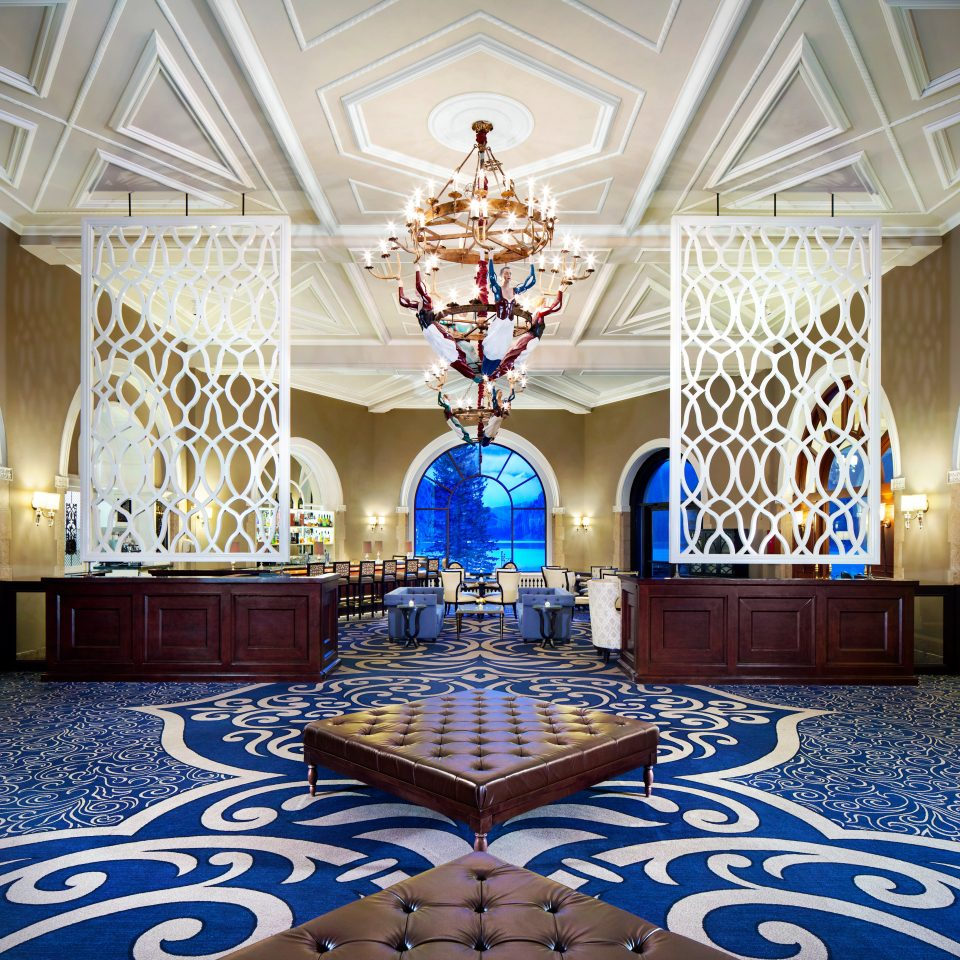 Lobby Resort function hall mansion blue living room ballroom palace rug