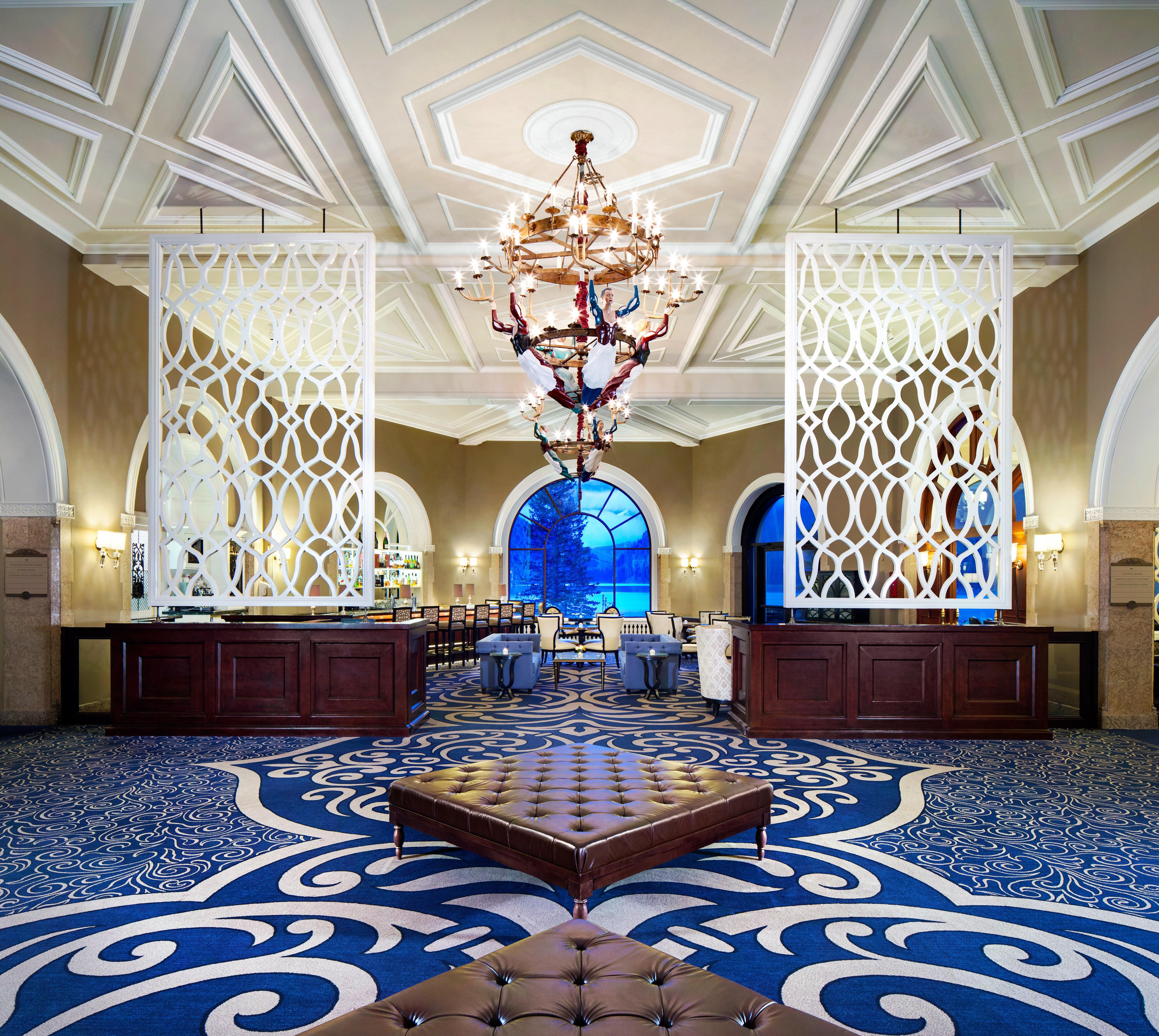 Lobby Resort function hall mansion blue living room ballroom palace rug