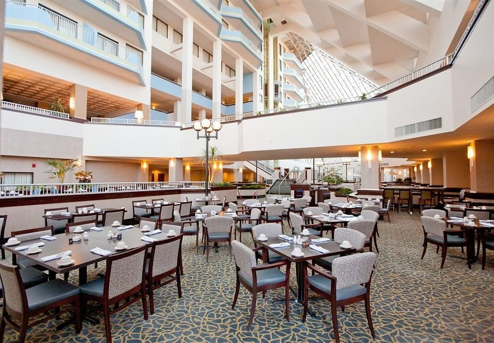 chair function hall restaurant scene convention center Resort cafeteria Lobby conference hall ballroom dining table