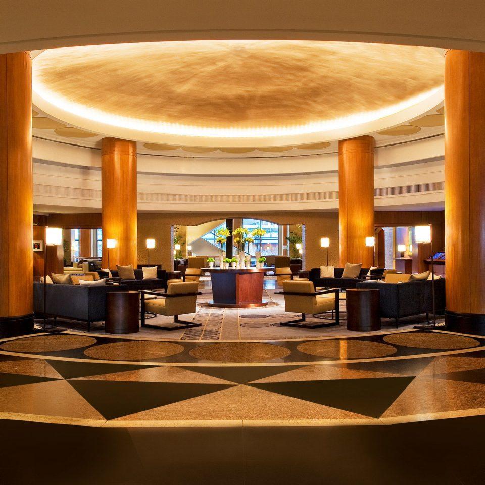 Lobby function hall lighting Resort convention center ballroom