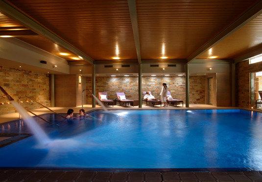 swimming pool blue billiard room recreation room function hall Resort Lobby empty