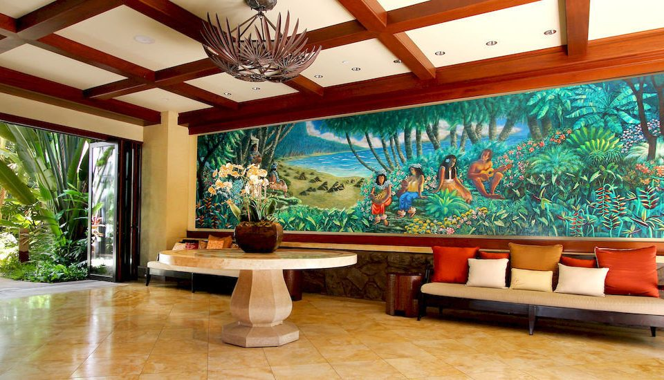 property Lobby building mural Resort home recreation room living room mansion