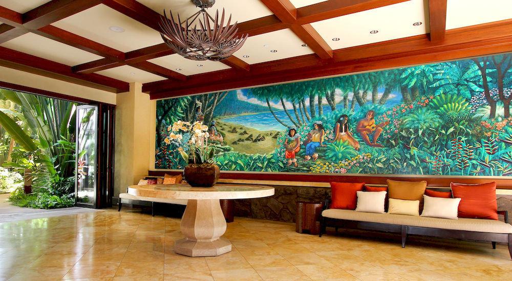 property Lobby building mural Resort home recreation room living room mansion