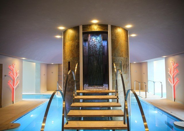 chair wooden Lobby Resort swimming pool light