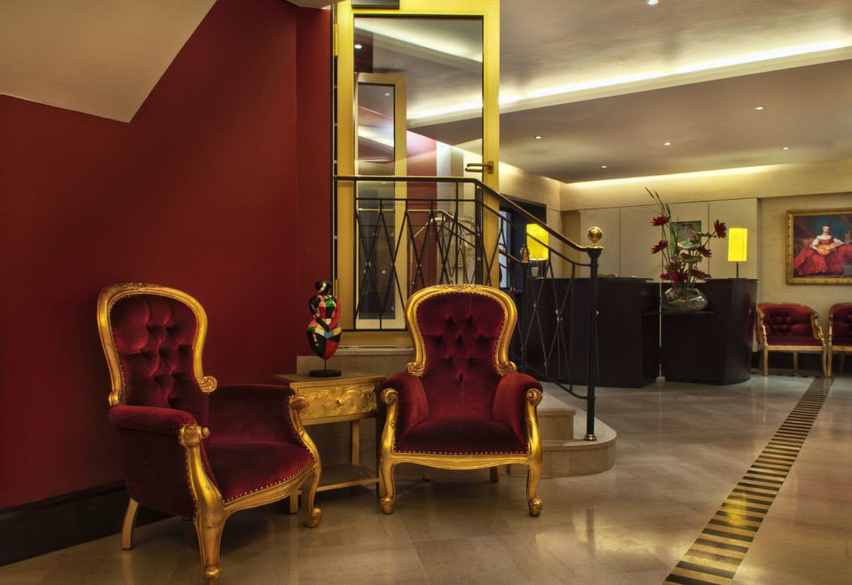 chair Lobby yellow tourist attraction theatre restaurant living room Resort