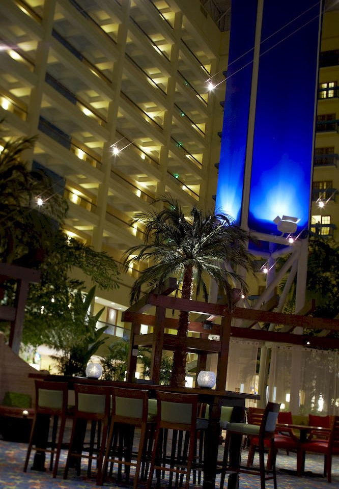 night plaza lighting Lobby Resort shopping mall restaurant condominium convention center
