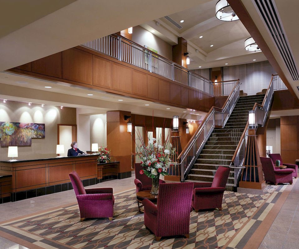 Lobby property living room purple Resort condominium convention center