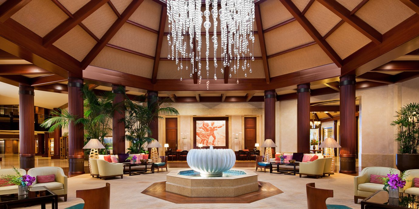 Lobby living room Resort home lighting function hall mansion