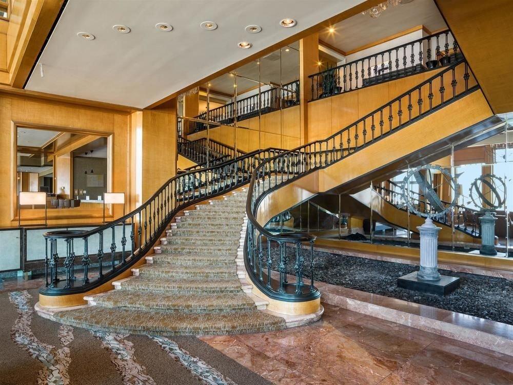 property Lobby plaza yellow stairs handrail Resort