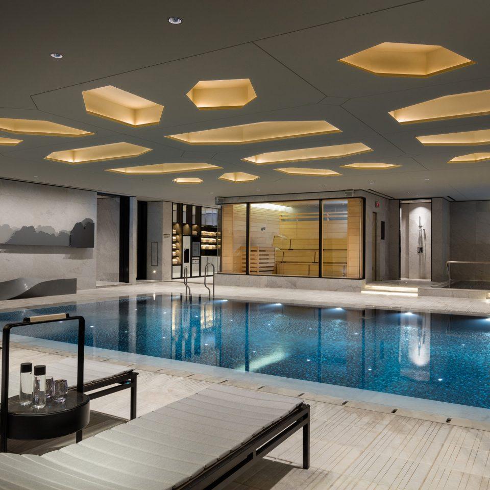 swimming pool lighting Lobby Resort