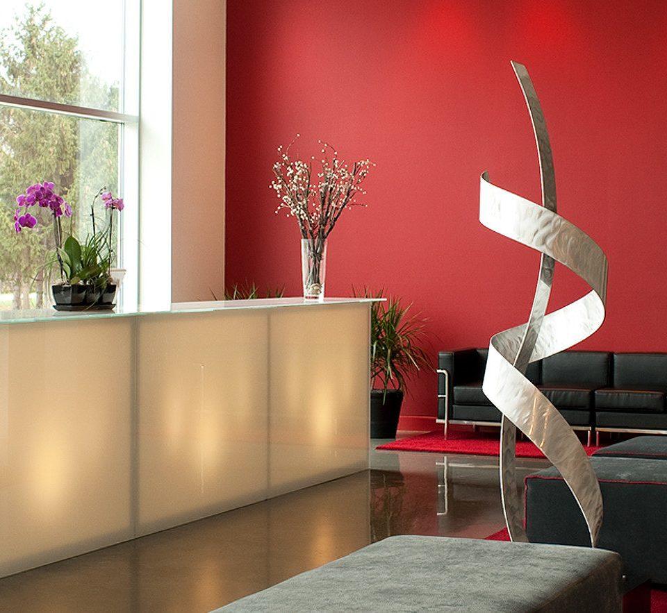 Lobby Resort red living room modern art sofa