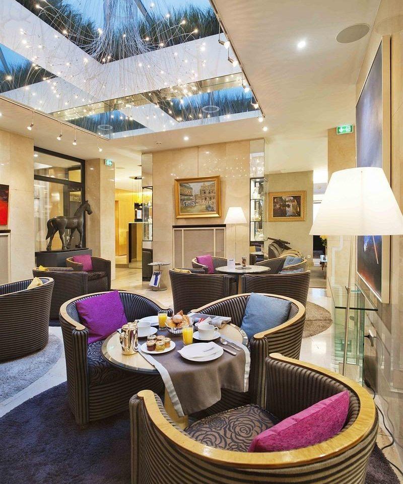 property living room chair home condominium Lobby Suite cottage Resort purple