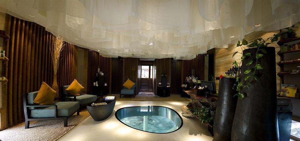 curtain property home mansion condominium Lobby Suite Resort living room