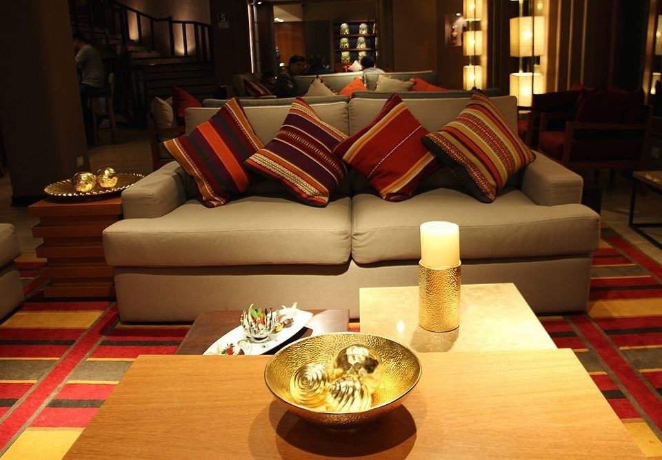 Lobby red living room Suite restaurant Resort leather
