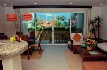 condominium property living room Lobby Resort Villa Suite hacienda home
