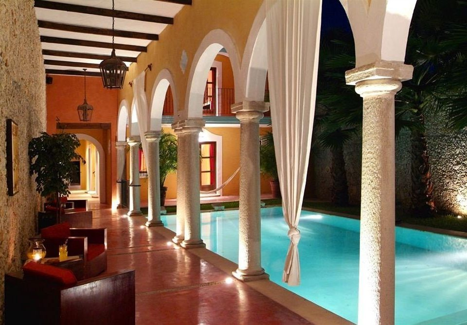property building Lobby mansion swimming pool Resort Villa hacienda palace colonnade