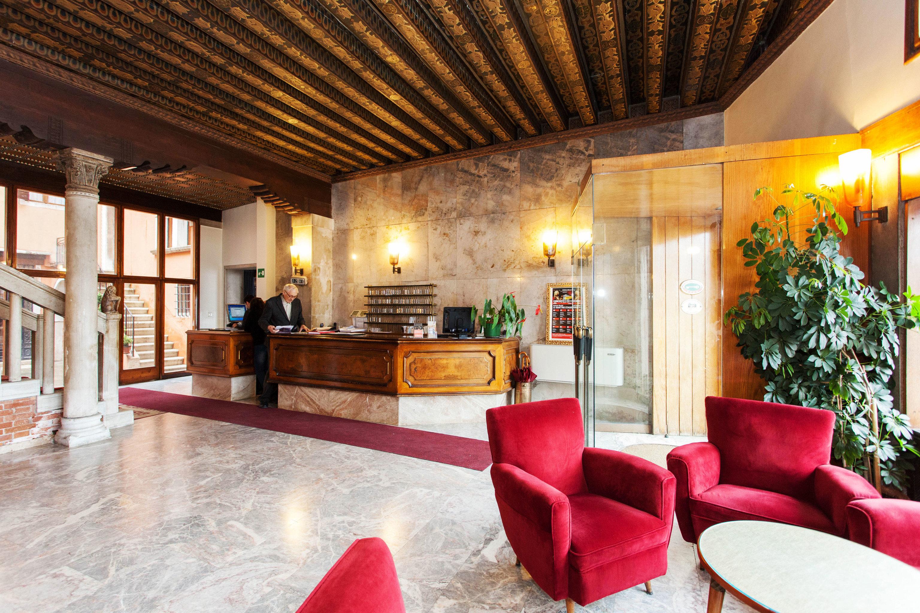 Lobby property chair living room red home Resort Villa hacienda mansion
