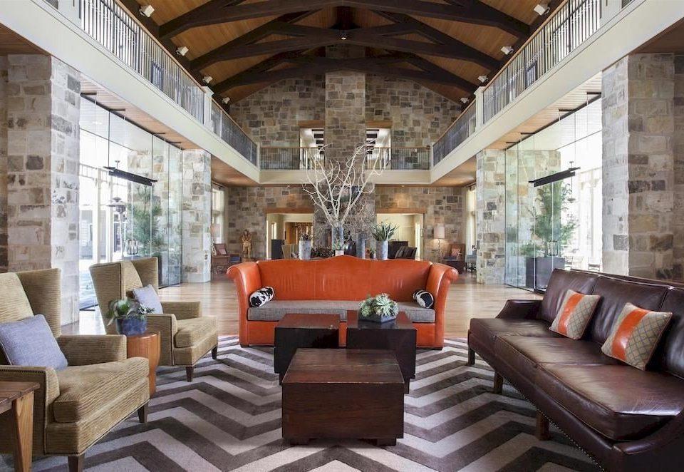 Lobby Resort sofa living room property home porch mansion cottage Villa farmhouse condominium leather