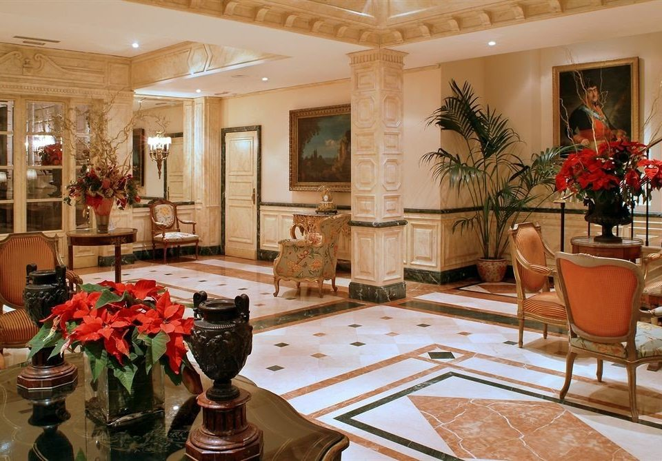 Lobby property chair living room home restaurant palace mansion function hall plant Suite ballroom dining table